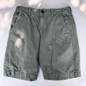 American Eagle - Army Green Khaki Shorts Sz 30